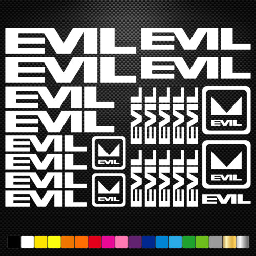 Compatible Evil Bikes Vinyl Decals Stickers Sheet Bike Frame  Cycling Bicycle
