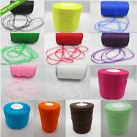 """NEW 50 Yards 3/8"""" 9mm Satin Edge Sheer Organza Ribbon Bow Craft U pick Colors"""