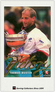 1996 Blitz Australia Tennis Trading Card Victory Subset V1 Thomas Muster