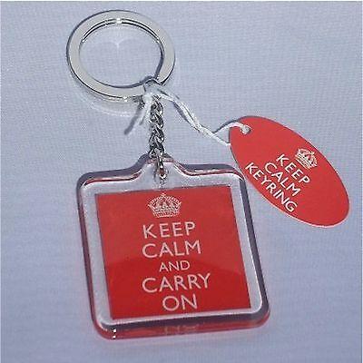 Keep Calm and Carry On Union Jack Acrylic Keyring