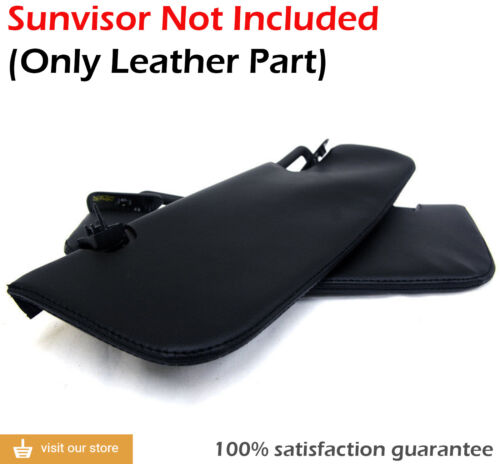 Sunvisor Leather Synthetic Covers for Ford Mustang 05-09 Black