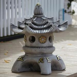 Details about Chinese Garden Ornaments , Triple Top Japanese Pagoda Lantern