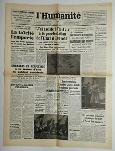 N674-La-Une-Du-Journal-L-039-humanite-15-mai-1948-la-laicite-l-039-emporte