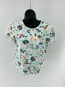 White-Stag-Tee-Women-039-s-Top-Shirt-Floral-Short-Sleeve-Scoop-Neck-Cotton-Size-S