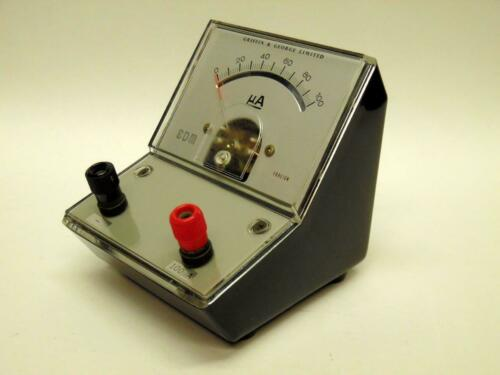 1 Vintage Griffin /& George 100 Microammeter Moving Coil Meter