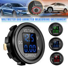 Dc 12 24v 2 In 1 Car Motorcycle Led Digital Voltmeter Ammeter Voltage Meter Xs