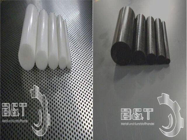 POM schwarz o. weiß (natur) Rund Durchmesser und Länge wählbar. Kunststoff Rund