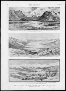 1893-Antique-Print-RUSSIA-Pamirs-LAKE-VICTORIA-Major-Roche-Central-Asia-170