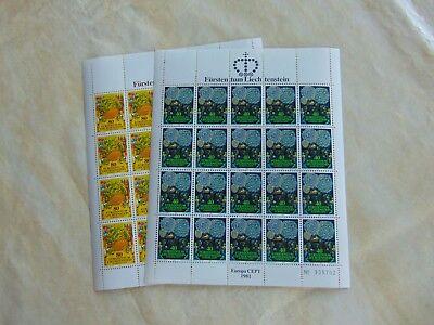 764-765 Postfrisch Im Kompl.kleinbogen HeißEr Verkauf 50-70% Rabatt Liechtenstein Nr 44,00