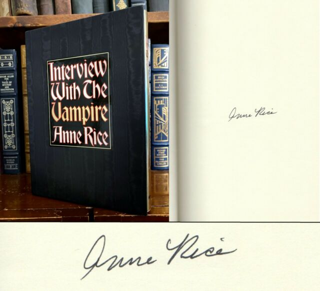 Interview with the Vampire by Anne Rice SIGNED 20th Anniversary Edition! 1996!