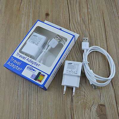 LED Travel AC Wall Charger Micro USB Cable for Samsung Galaxy S4 S3 Note 2 i9500