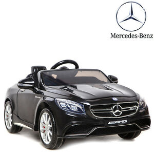 voiture lectrique enfant b b 4x4 noir mercedes s63 luxe 12 volts t l commande ebay. Black Bedroom Furniture Sets. Home Design Ideas