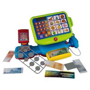Elektrische Kinder Spiel Kasse Kaufmannsladen Kaufladen Spielzeug Touch Display