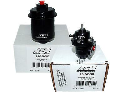 AEM 25-304BK Adjustable Fuel Pressure Regulator FPR 1996-2000 Honda Civic EX