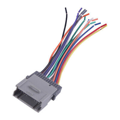 Stereo CD Player Radio Wiring Harness Fit for GMC Envoy Chevy ... dodge ram trailer wiring color code eBay