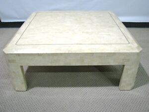 Image Is Loading Vintage Maitland Smith Tessellated Coral Stone Coffee Table