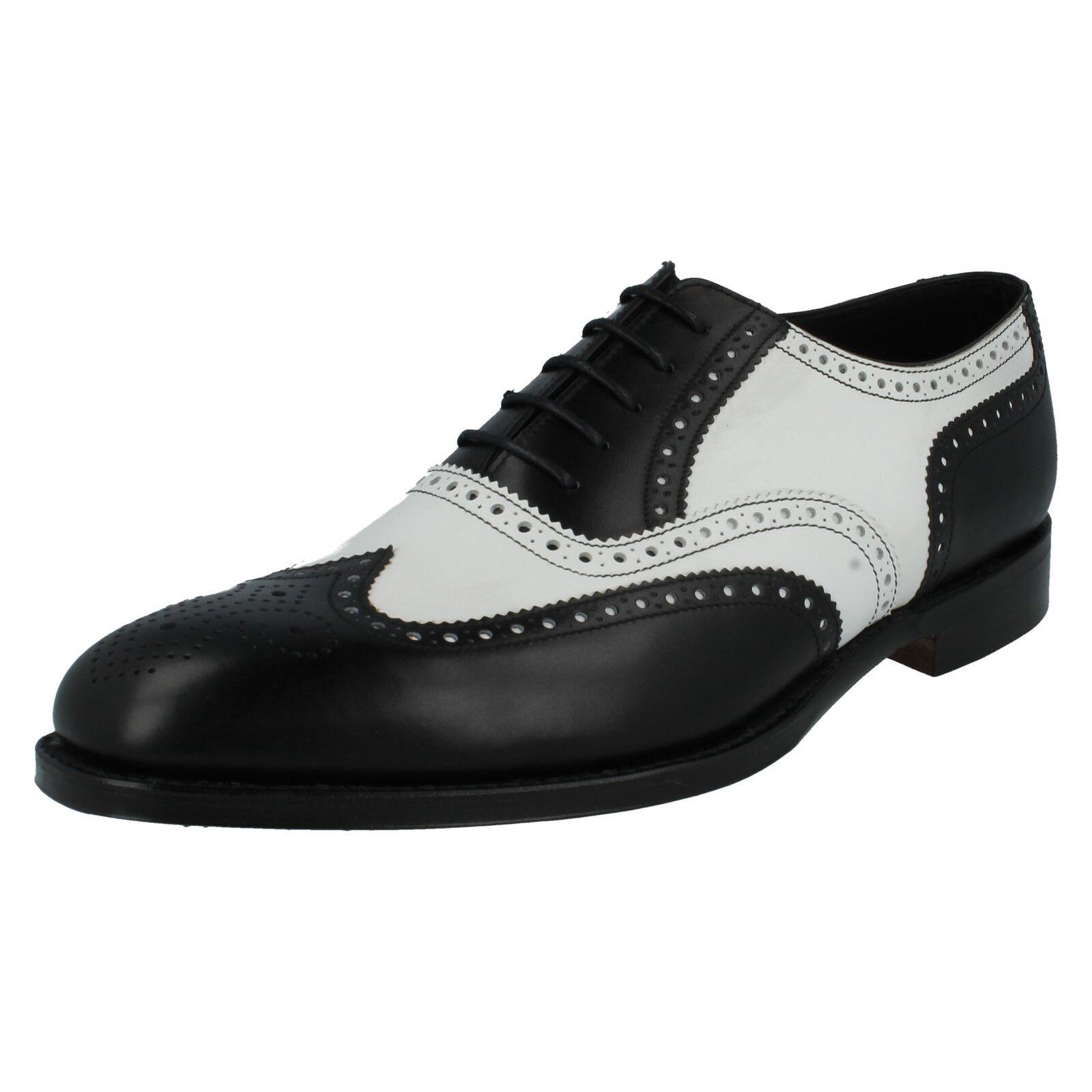 Loake Hombre Sloane Cuero con Cordones Formal Clásico Dos Tonos Zapatos Oxford