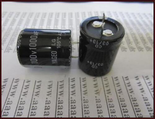 25x30mm ra.10 2 piezas Yageo Elko condensador 1000µf 100v aprox