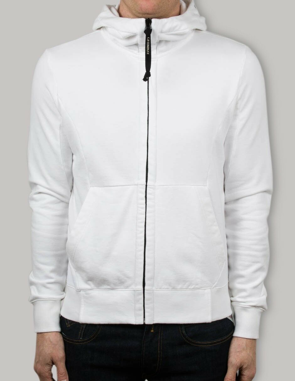 CP Company Goggle Hooded Sweatshirt In Weiß