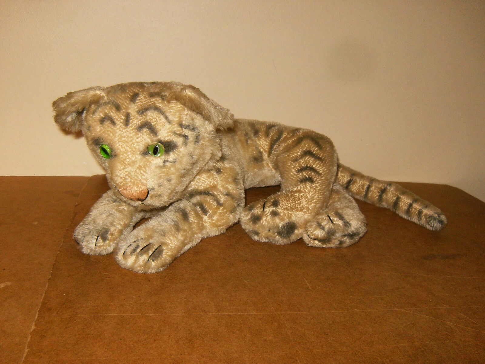 Ancienne peluche TIGRE Weiß félin 50cm - vintage stuffed Weiß TIGER 19 inches