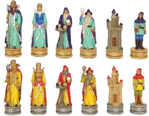 Chess Set Pieces Mythical Wizards och Enchangers ny
