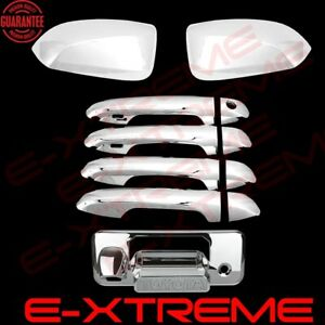 Fit 2016~18 TOYOTA TACOMA  2 TOP Mirrors 4 Door Handle W// SMART KEY Chrome Cover