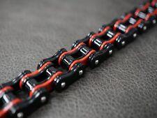 130 gram BLACK RED Classic Dual Chain Bracelet for Harley Davidson Motor Biker
