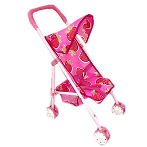 Baby Doll Stroller with Basket Foldable Strollers for Dolls Carreola