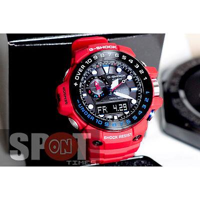 Casio G-Shock Gulfmaster Tough Solar Atomic Multiband 6 Men's Watch GWN-1000RD-4
