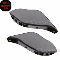 Black Side Wing Windshield Air Deflector For Harley Touring Flhr Flht Flhx 96-13