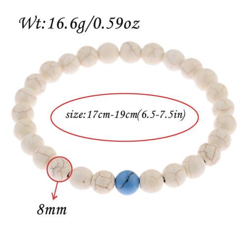"8/"" Handmade Healing crystal 8 mm Perles Chakra Perles Charme Bracelets de nouveaux bijoux"