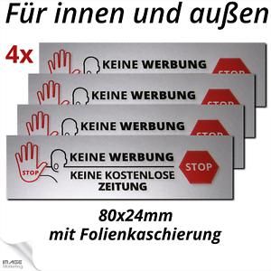 Details Zu Keine Werbung Aufkleber Stop Keine Zeitungen Witterungsbeständig Briefkasten 4x