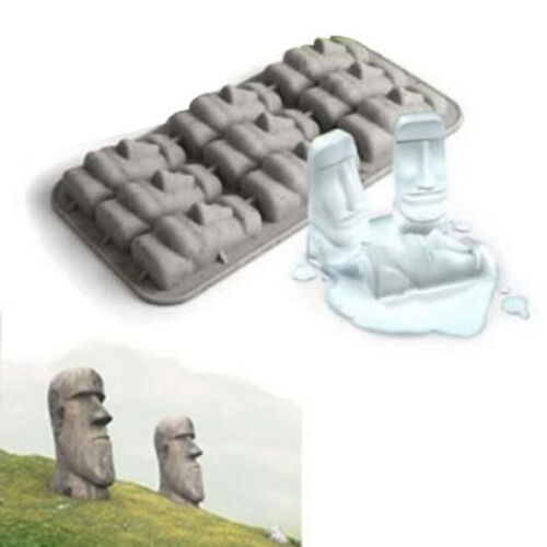 Easter Island Moai Stone Statues Ice Tray Ice Cubes DIY Mould Hign Quality VH