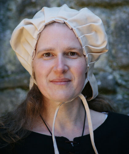 Medieval//LARP//Re enactment//VIKING Ladies Bonnet-Coif-Head covering-Head dress