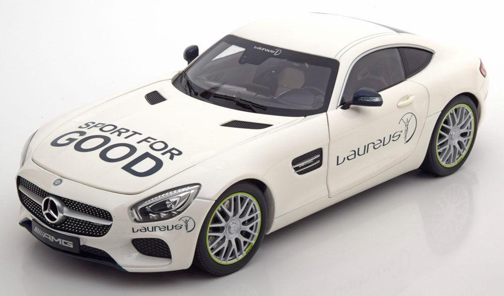 NOREV 2016 Mercedes Benz AMG GT S C190 White Laureus 1 18 Dealer Edition