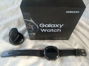 Samsung Gear Sport 44.6mm Black Case Silicone Band Classic Buckle - SM-R600