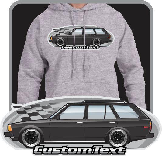 Custom Art Hoodie 1980 81 82 1982 1983 E70 E-71 E-72 Toyota corolla wagon DLX
