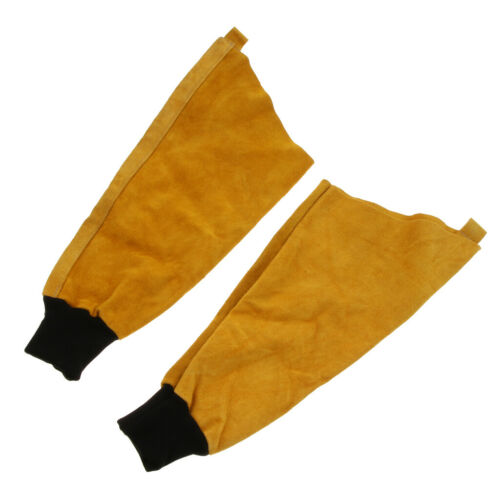 Cuir de soudage à manches Vêtements de travail matériel pour soudeur Bras De Protection