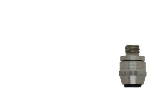 Vintage Zugentlaster M10x1 Messing 17x25x6 Außengewinde Kegelform Klemmung Retro