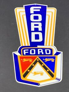 VINTAGE-FORD-JUBILEE-CAR-TRUCK-DEALER-SALES-13-034-METAL-GASOLINE-amp-OIL-SIGN-HENRY