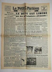 N663-La-Une-Du-Journal-Le-petit-Parisien-13-septembre-1943-le-duce-est-libere