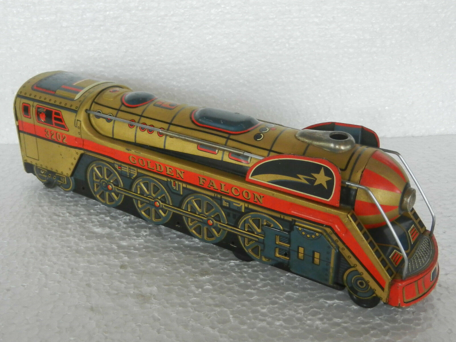 Vintage Battery Operated oroen Falcon Train Engine Toy, Japan