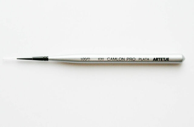 Artetje 630 Camlon Pro Plata 100//0 Micro Paint Brush