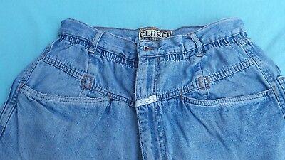 Entusiasta Jeans Closed Con Cannole' Taglia 32 Americana E 48 Italiana Anni '80 Vintage