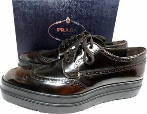 PRADA Men's Leather Platform Derby