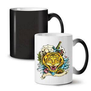 Tiger Face NEW Colour Changing Tea Coffee Mug 11 oz | Wellcoda