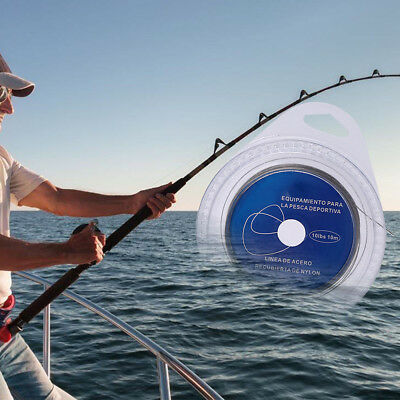 Stainless Steel Fishing Leaders Fishing Wire Strand Wire 10m Sea Fishing