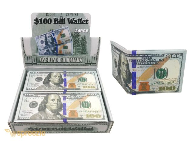 Dollar Bill Wallet Leather Bifold Wallet Credit Card Photo Check Holder Purse