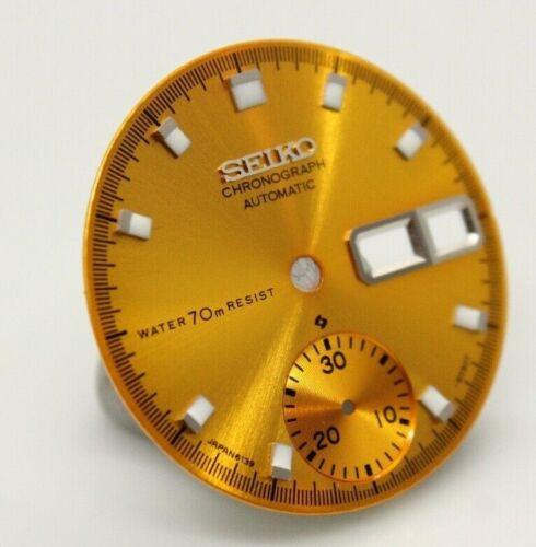 Yellow  Resist Dial Vintage SEIKO Chronograph 6139-6002 6005 6001 6009 07 Pogue