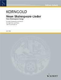Nine Shakespeare Songs op sheet music; Korngold Erich Wolfgang. 29 und 31